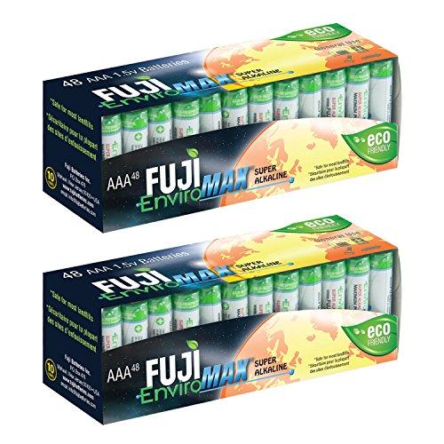 Fuji EnviroMAX Super Alkaline AAA Eco Friendly Batteries (Pack of 96)