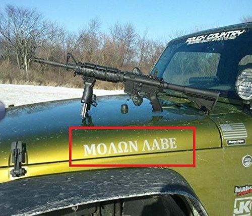 2x molon lave Decal sticker Compatible with Jeep Wrangler RUBICON