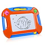 YEPON Magnetic Drawing Board, Erasable Magna Sketch Pad, Portable Travel Doodle Board for Kids with Stamps and Pen, Preschool Learning and Educational Toy
