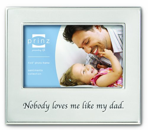 Prinz 6 by 4-Inch Family Ties Dad Silver Metal Frame