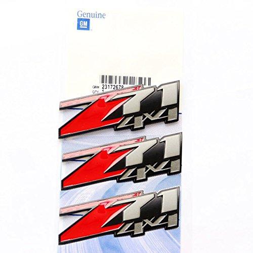 Yoaoo-oem® 3pcs NEW OEM 2005-2013 3d Logo Chevy Suburban Tahoe Z71 4x4 Emblems Pair Set Badges (Black2) (2007 Z71 Suburban)