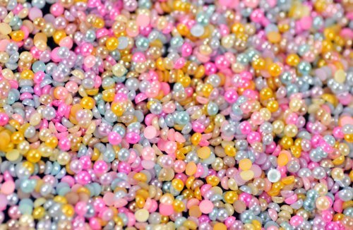 10000pcs Nail Art Half Round Flatback Pearl Decoration 2.5mm Beads Gems DIY Tips by Good2Deal