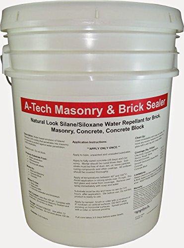 - A-Tech Masonry & Brick Sealer 5 Gallon Pail-Natural Look Brick Waterproofing