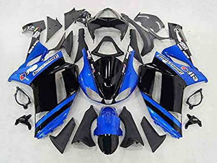 Amazon.com: Moto Onfire Fairing Kit Fit For Kawasaki ZX6R ...