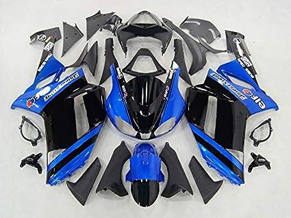 Amazon.com: Moto Onfire Fairing Kit Fit For Kawasaki ZX6R ...