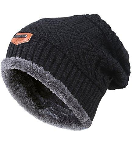 9f07506a7d1 MIEDEON Men s Winter Knitting Skull Cap Wool Warm Slouchy - Import ...