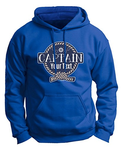 Customized Birthday Gift Boaters Personalized Boat Captain Sailing Boating Custom Premium Hoodie Sweatshirt Large Royal