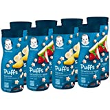 Gerber Graduates Puffs, Banana and Strawberry Apple, 8 Count