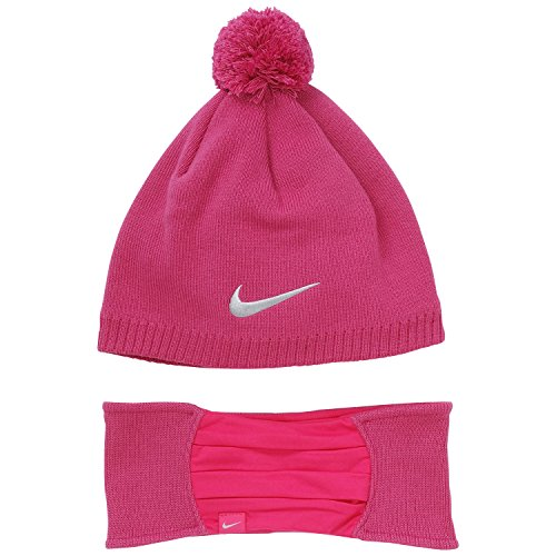 Price comparison product image Nike Knit Hat and Headband Set, Fireberry Heather/Vivid Purple, One Size