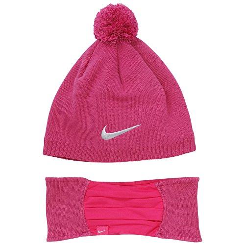 Price comparison product image Nike Knit Hat and Headband Set, Fireberry Heather/Vivid Purple, One Size