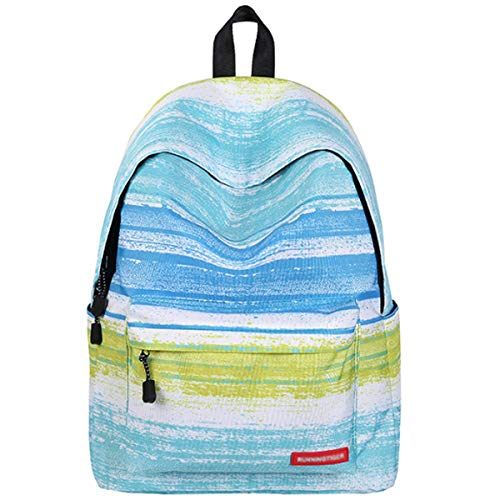 Bag Green Galaxy Travel Unisex Kids Book Rucksack 2 Daypack School Hiking Backpack Camping Girls Canvas OwvgWqfnqx