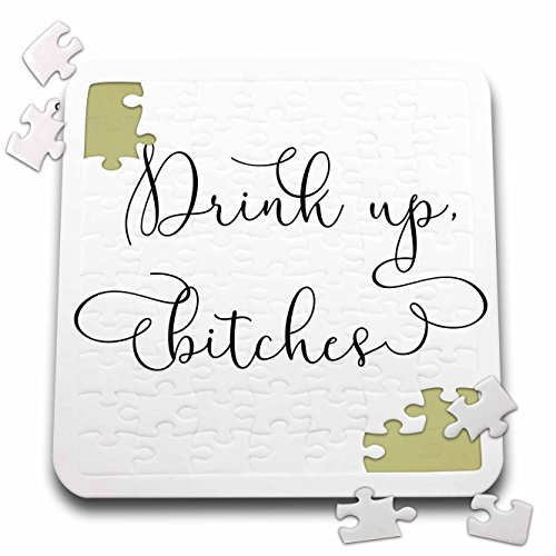 Lenas Photos - Wedding - Cheers Bitches - Bachelorette Party - Birthday Celebration - Cheers - 10x10 Inch Puzzle (pzl_264053_2) by 3dRose