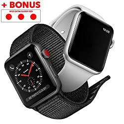 Bijouland - 6 Pieces Apple Watch Stickers, Digital Crown Stickers, Apple Watch Decal, Transform Your Apple Watch, (3pcs Matte Dark Red+3pcs Glossy Red Bonus ) Easy Installation