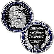 Saint Michael Law Enforcement Challenge Coin God Bless The Police Prayer