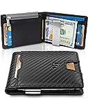 Money Clip Wallet for Coins NEW YORK RFID Blocking Wallet  Slim Wallet  Credit Card Holder  Travel Wallet  Minimalist Mini Wallet Bifold for Men with Gift Box TRAVANDO