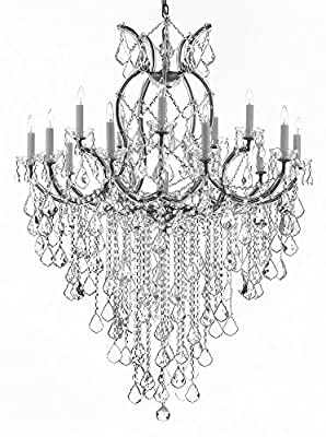 "Maria Theresa Chandelier Empress Crystal (Tm) Lighting Chandeliers H50"" X W37""! Great for Large Foyer / Entryway!"