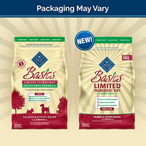 BLUE Basics Limited Ingredient Diet Adult Grain Free Salmon & Potato Dry Dog Food 22-lb by BLUE Basics (Image #1)