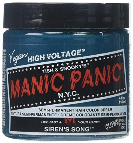 Manic Panic Siren's Song Formula Semi-Permanent Hair Color Cream, 4 oz. (Permanent Hair Cream Dye)