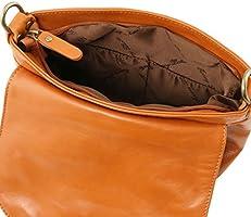 Tuscany Leather - TL Bag - Soft leather shoulder bag with tassel detail  Cognac - TL141223. Loading Images. 00c1b827aa81e