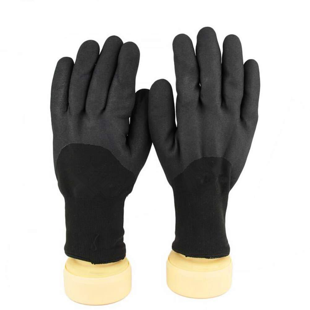Guantes De Protección A Prueba De Frío A -30 ° C Gruesos De Nitrilo De Terciopelo con Lazo De Baja Temperatura En El Congelador