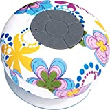 GRANDEY Portable Waterproof Bluetooth V3.0 + EDR Shower Speaker Handsfree Speakerphone with Suction Cup Suitable for Car, Bedroom, Wash Room, Kitchen, Office, Conference, Business Trip, Vacation Etc (Flower)