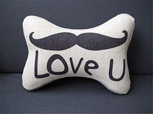 Creative mustache, lip style memory foam neck pillow for lovers