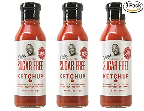 G Hughes Sugar Free Ketchup (3 Pack) (Best Bbq Sauce Without High Fructose Corn Syrup)
