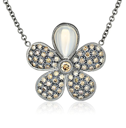 "Colette Steckel ""Galaxia"" 18k Gold Colette Steckel Flower with Bezel Necklace"