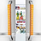 Vezfinel Refrigerator Door Handle Covers,Fridge Oven Dishwasher Protectoer,Catch Fingerprints&Smudges Kitchen Appliances Handmade New (16