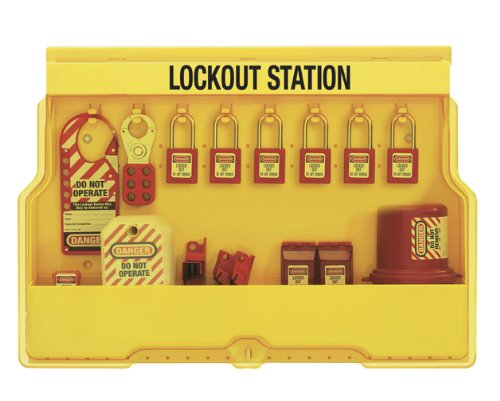 Master Lock Electrical Lockout Station, Includes 6 Zenex Padlocks