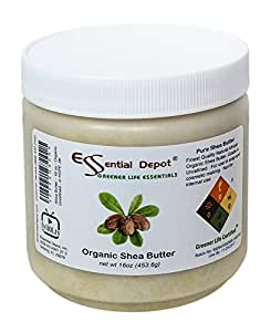 Shea Butter - 16 oz. - 1 lb - Organic - Unrefined - In HDPE Jar