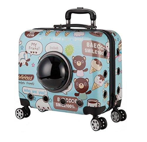 ZHANGOR Cat and Dog Pet Trolley Bag Travel Outdoor Transtrasparente Pet Handbag Portable Carrier Space Capsule, Mountain Climbing, Shopping, A