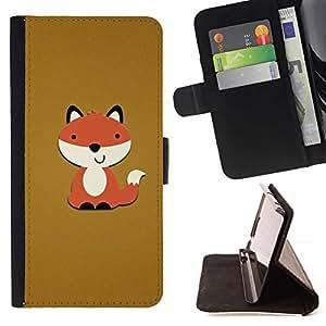 Marrón Naranja de dibujos animados divertido dulce- Modelo colorido cuero de la carpeta del tirón del caso cubierta piel Holster Funda protecció Para Sony Xperia Z3 D6603