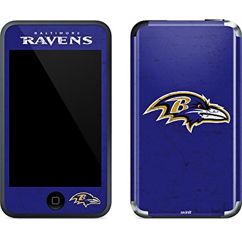Baltimore Ravens Ipod Skin - NFL Baltimore Ravens iPod Touch (1st Gen) Skin - Baltimore Ravens Distressed Vinyl Decal Skin For Your iPod Touch (1st Gen)