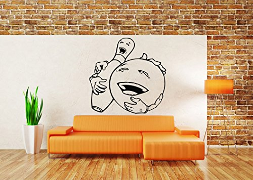 wall-room-decor-art-vinyl-sticker-mural-decal-bowling-game-ball-pin-laugh-alley-poster-as2178