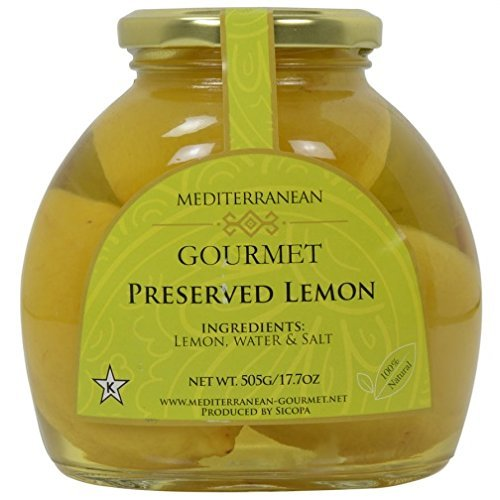 t Preserved Lemons (All Natural lemons preserved in brine) 17 oz. (Lemon Jam Recipe)