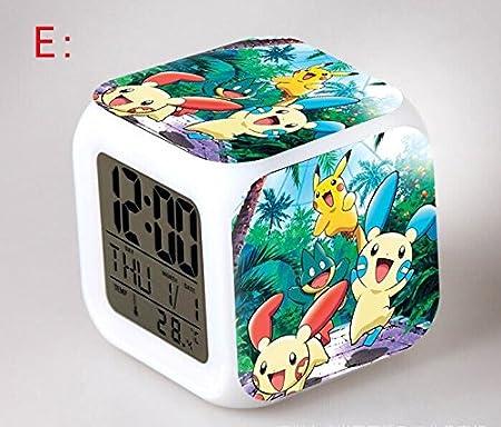 Amazon.com : Anime Cartoon Pokemon Action Figure Pikachu Ash Ketchum Digital Alarm Clock Saat Reloj Despertador Collection Model Toys Dolls : Baby