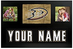Anaheim Ducks NHL Custom Jersey Nameplate and Logo Picture Frame