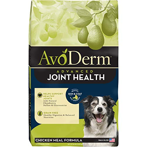 AvoDerm Natural Advanced Joint Health Dry Dog Food, Grain Free, Chicken Recipe