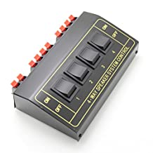 Ancable 4 Way Pair Stereo Speaker Selector Switcher Splitter switch box