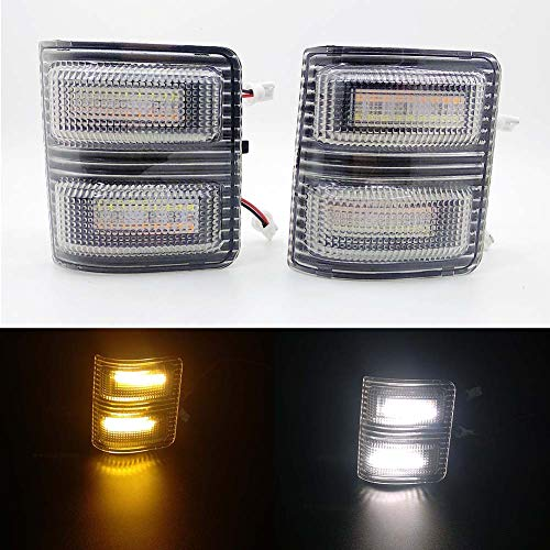 (Xinctai Switchback LED Side Mirror Marker Light Turn Signal Lamp for 2008 to 2016 Ford F250 F350 F450 F550 Super Duty Pickup Truck, Smoke Lens/Clear Lens (Clear Lens))
