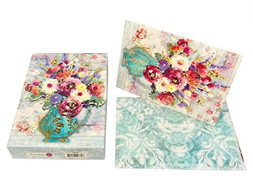 Punch Studio Pouch Notes-Fresh Flowers