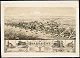 Historic Map | 1885 View of Sea Isle City : New Jersey | Antique Vintage Reproduction