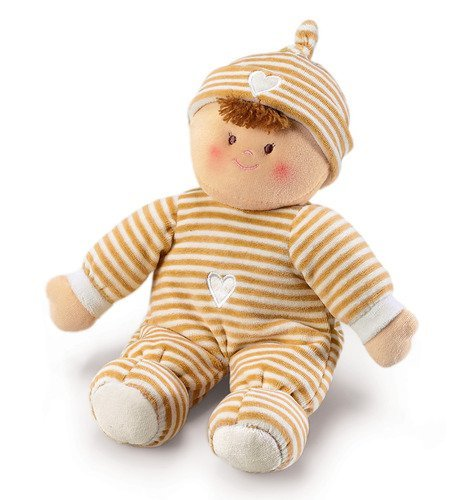 (Russ Berrie Beige Pancake Doll with Rattle 12 by Russ)