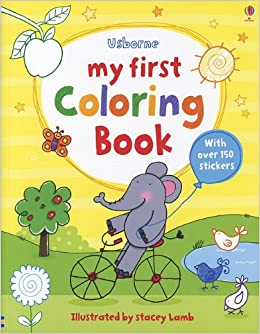 my first coloring book first sticker coloring books stacey lamb 9780794529642 amazoncom books - First Coloring Book
