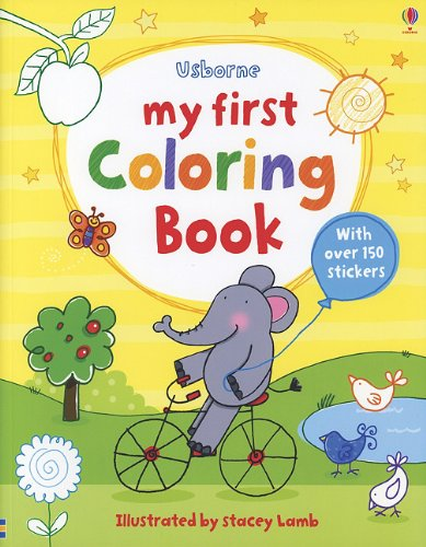 My First Coloring Book (First Sticker Coloring Books): Stacey Lamb ...