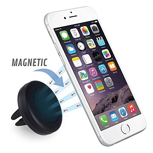 Car Mount, SAUS Magnetic Air Vent Universal Mobile Cell Phone Holder For iPhone 6S/6 6 Plus, 5, 5s, 4, Samsung Galaxy S6/S7 Edge Plus,LG G4/G5,GPS Devices More (Air Vent Mount)