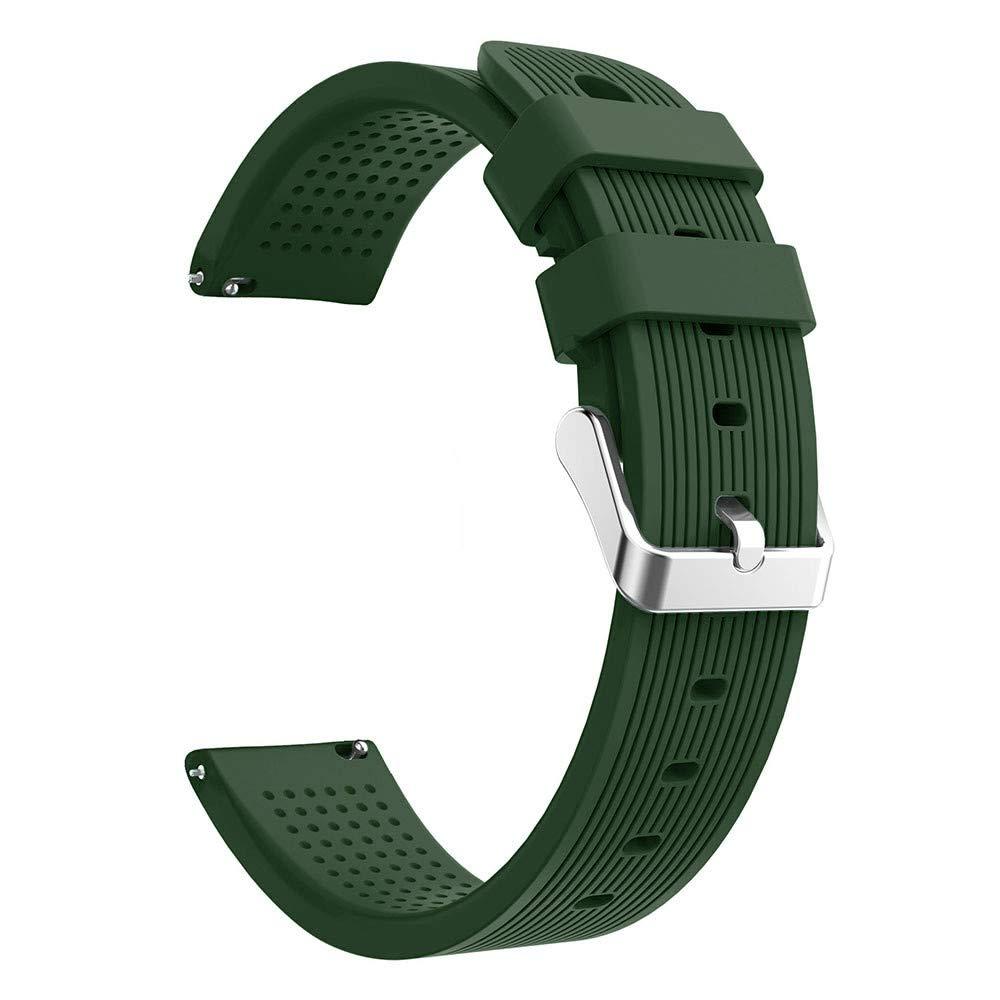 Lovewe Samsung Galaxy Watch Sport Soft Silicon Accessory,Watch Band Wirstband For Samsung Galaxy Watch 42mm (Army Green)