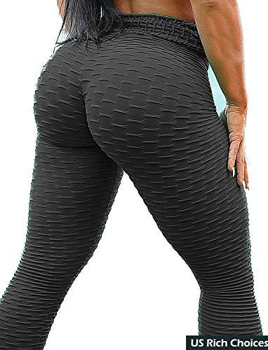 4f4b93ece8f63 SEASUM Women s High Waist Yoga Pants Tummy Control Slimming Booty Leggings  Workout Running Butt Lift Tights
