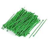 eDealMax 500pcs de Nylon auto-verrouillage électrique fil câble Ties Zip vert